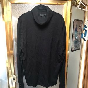 Black turtle neck sweater with button details